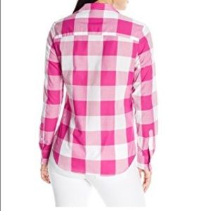 507c9048e16 U.S. Polo Assn. Tops - Bright Pink White Buffalo Plaid Button Down Shirt